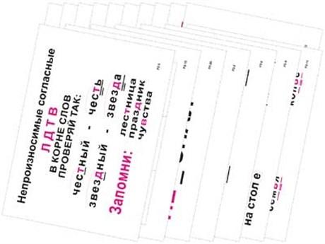 Опорные таблицы по русскому языку 2 класс - фото 57793