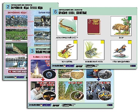 "Комплект таблиц для нач. шк. ""Окружающий мир. Экология"" (6 табл., формат А1,лам.) - фото 57819"