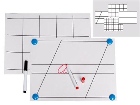 Комплект таблиц для демонстрации техники письма на линейках и в клетках - фото 57861
