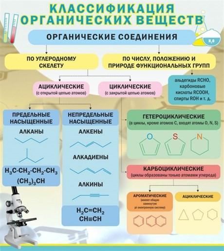 Стенд Классификация органических веществ - фото 58051
