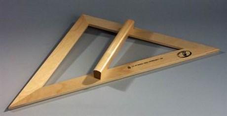 Угольник деревянный 45 градусов - фото 58620