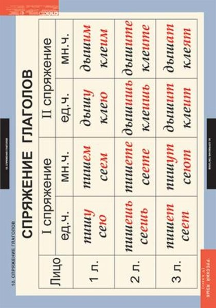 Комплект таблиц. Русский язык. 5 класс (14 таблиц) - фото 58740