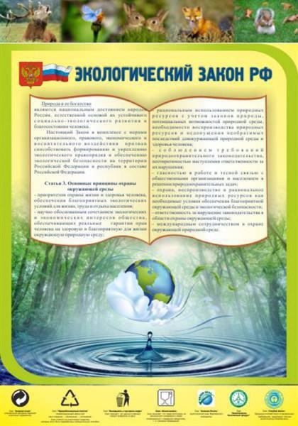 Стенд Экологический закон РФ - фото 58907
