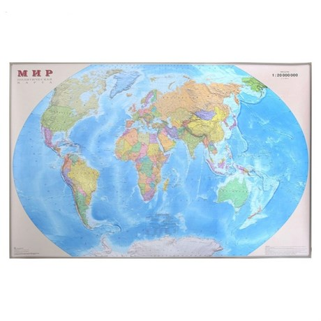 Карта Мира Политическая,156х101см - фото 59039