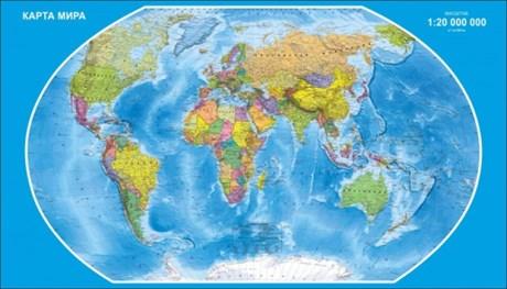 Стенд Карта Мира - фото 59055