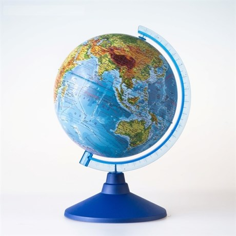 Физический глобус диаметром 210 мм - фото 59125