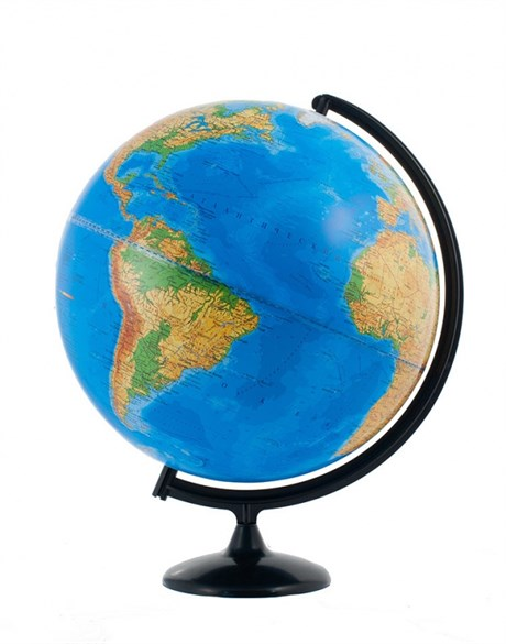 Физический глобус диаметром 400 мм - фото 59126