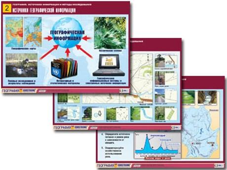 """Комплект таблиц по географии """"География: источники информации и методы исследования"""" - фото 59153"""
