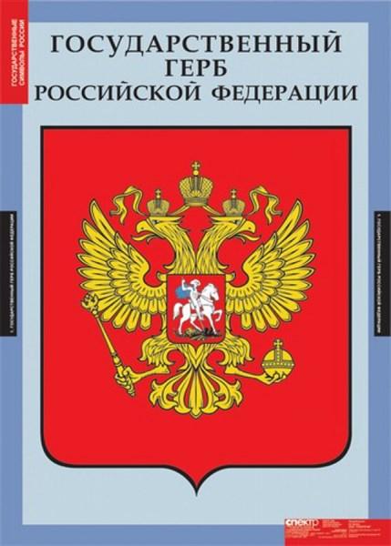Комплект таблиц. Государственные символы России. - фото 59226