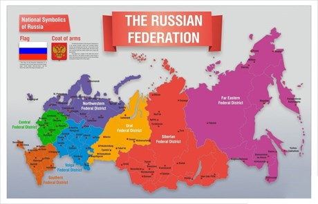 Стенд Карта России (английский) - фото 59243