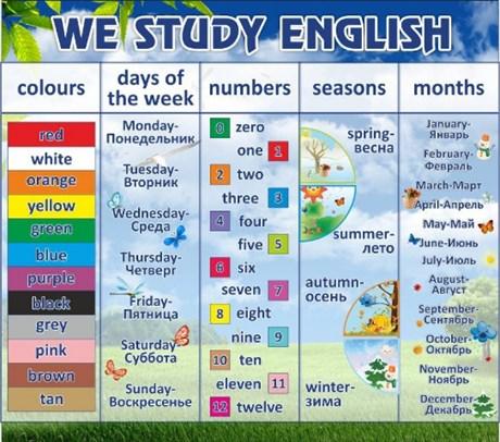 Стенд We study english - фото 59262