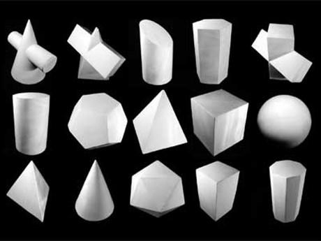 Набор гипсовых геометрических тел (10 шт.) - фото 59326