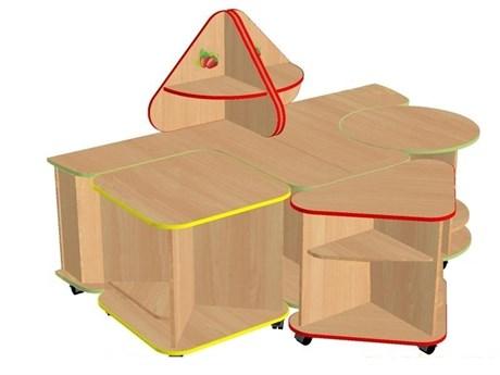 Дидактический набор мебели Земляничка - фото 59686