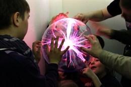 Интерактивный экспонат Плазменный шар 300 мм (напол/настен)