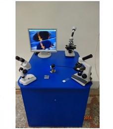 Интерактивный  экспонат «Стол с микроскопами»