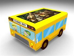 Детский интерактивный столик  Автобус кубик