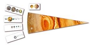 """Модель-аппликация """"Сравнительные размеры Солнца, планет и их спутников"""""""