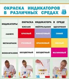 Стенд Окраска индикаторов в различных средах