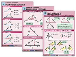 "Комплект таблиц по геометрии ""Планиметрия. Треугольники"" (14 табл., формат А1, лам.)"