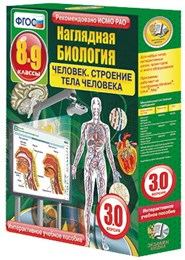 """Интерактивное учебное пособие """"Наглядная биология. 8 - 9 классы. Человек. Строение тела человека"""""""
