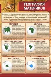 Стенд География материков