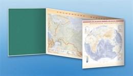"""Доска магнитно-маркерная, трехэлементная """"Карта мира"""" (полноцветная) + комплект тематических магнитов КМ-3"""