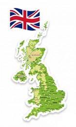 Стенд резной Физическая карта Великобритании