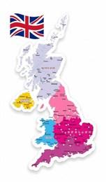 Стенд резной Политическая карта Великобритании