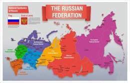 Стенд Карта России (английский)