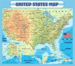 Стенд Карта США