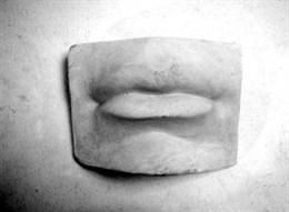 """Гипсовая модель """"Губы человека"""""""