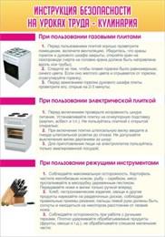 Стенд Инструкция безопасности на уроках труда №2 - Кулинария