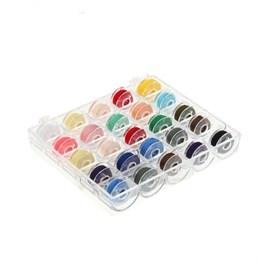 Набор шпулек с нитками в пластиковой коробке (25шт)