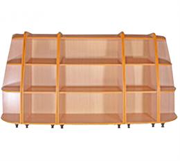 Комплект шкафов для игрушек и пособий «Солнышко-1»