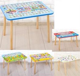 Стол с деревянными ножками «Алфавит» (в ассортименте)
