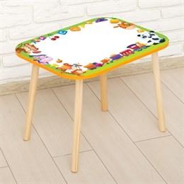Стол с деревянными ножками «Лев с игрушками»