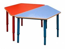 Стол трапеция, регулируемый по высоте (р.гр.№0-3) Столешница цветная.