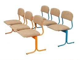 Блок детских театральных стульев 3-х местный (р.гр.№1,2,3)
