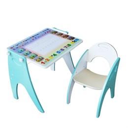 """Набор мебели """"Буквы-цифры"""" парта-мольберт, стульчик"""