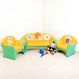 "Комплект мягкой мебели ""Карина"", зелёно-жёлтый"