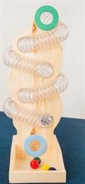 Настольный лабиринт с трубкой (вертикальный) №1