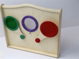 """Панель для игровых зон """"Цветные стеклышки"""""""