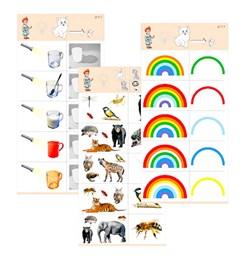 """Комплект карточек (10) """"Обучающий калейдоскоп для ДО. Эксперимент. Свет"""""""