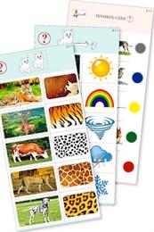 """Комплект карточек (10) """"Обучающий калейдоскоп для ДО. Познание. Мир природы"""""""