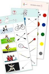 """Комплект карточек (10) """"Обучающий калейдоскоп для ДО. Спорт вокруг нас"""""""