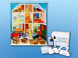 """Магнитно-маркерный ситуационный плакат """"Квартира"""" с набором магнитных карточек + методические рекомендации"""