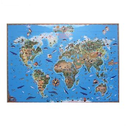 """Карта мира для детей """"Обитатели земли"""""""