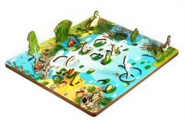 "Набор ""Обитатели пруда""  (3D пруд, развивающая доска)"
