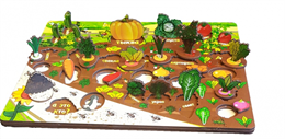 Овощи на грядке - 3D огород на твоем столе (34 детали)