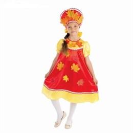 """костюм """"Осенняя краса"""", 2 предмета: платье с кокеткой, кокошник"""